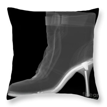 High Heel Boot X-ray Throw Pillow by Ted Kinsman