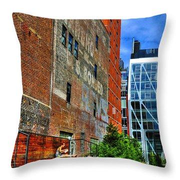 High Line Park Scene Throw Pillow by Randy Aveille