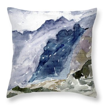 High Mountains Throw Pillow