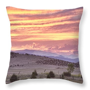 High Park Fire Larimer County Colorado At Sunset Throw Pillow by James BO  Insogna
