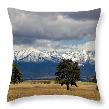 Throw Pillow featuring the photograph High Tatras - Vysoke Tatry by Les Palenik