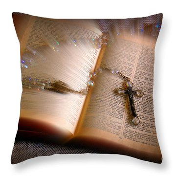Throw Pillow featuring the photograph Higher Power by Donna Bentley