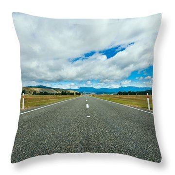 Highway Through The Countryside  Throw Pillow by Ulrich Schade