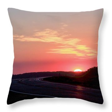 Highway To The Sky Throw Pillow