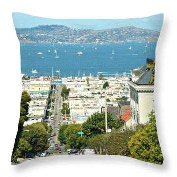 Sunny Day In San Francisco Throw Pillow