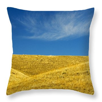 Hills And Clouds, Cypress Hills Throw Pillow by Mike Grandmailson