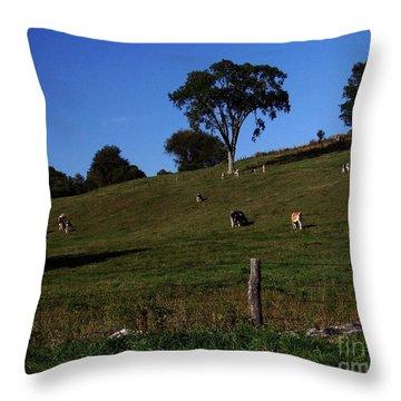 Hillside Grazing Throw Pillow