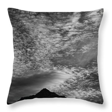 Himalayan Sky In Black And White Throw Pillow by Don Schwartz