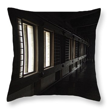 Himeji Castle Corridor - Himeji City Japan Throw Pillow