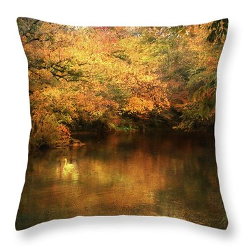 Hint Of September Throw Pillow by Jai Johnson