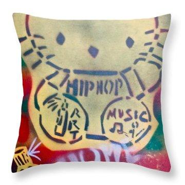 Hip Hop Kitty Throw Pillow by Tony B Conscious