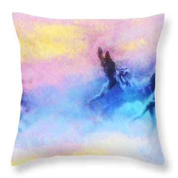 Hippie Heaven Throw Pillow by Bill Cannon