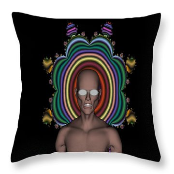 Hippy Punk Throw Pillow by Matthew Lacey