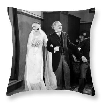 His Marriage Wow, 1925 Throw Pillow by Granger