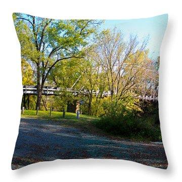 Historic Camelback Bridge Throw Pillow