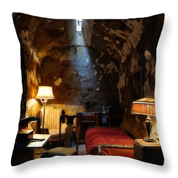 Historic Prison Cell Of Al Capone Throw Pillow by Gary Whitton