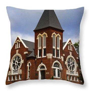Historical 1901 Uab Spencer Honors House - Birmingham Alabama Throw Pillow by Kathy Clark