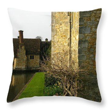 History Throw Pillow by Maria Joy