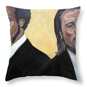 Hit Men Throw Pillow