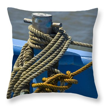 Hitched Throw Pillow by Trevor Chriss