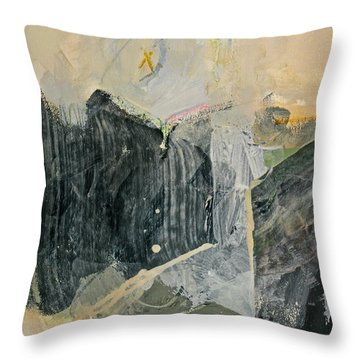 Hits And Mrs Or Kami Hito E  Detail  Throw Pillow by Cliff Spohn
