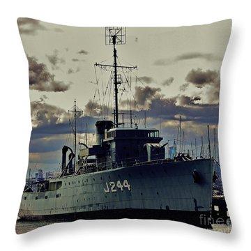 Throw Pillow featuring the photograph Hmas Castlemaine 1 by Blair Stuart