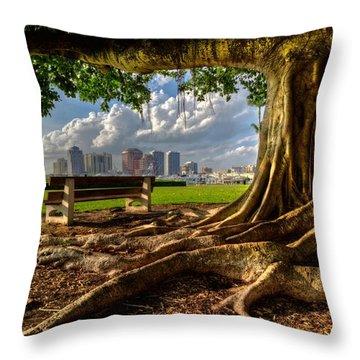 Hobbit Eyeview Throw Pillow by Debra and Dave Vanderlaan