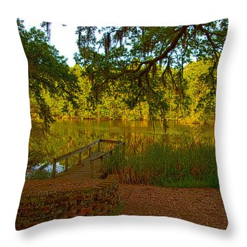Hobcaw Barony Pond Throw Pillow