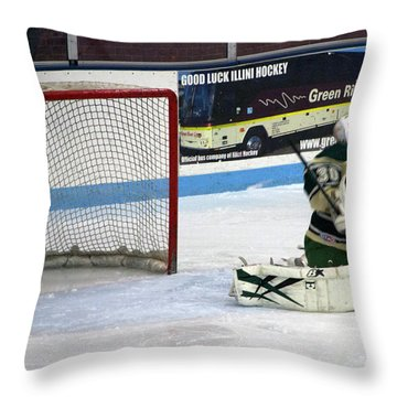 Hockey Nice Catch Throw Pillow by Thomas Woolworth