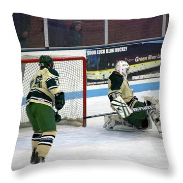 Hockey Off The Pads Throw Pillow by Thomas Woolworth