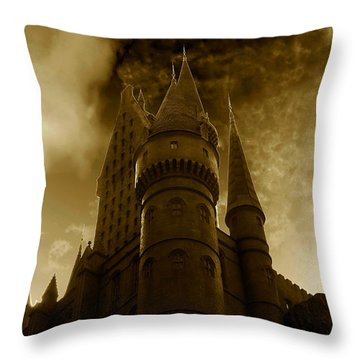 Hogwarts Castle Throw Pillow by David Lee Thompson