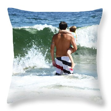 Holding On Throw Pillow by Maureen E Ritter
