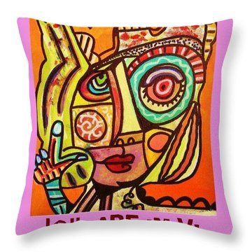 Hole In My Head - Yiddish Throw Pillow by Sandra Silberzweig