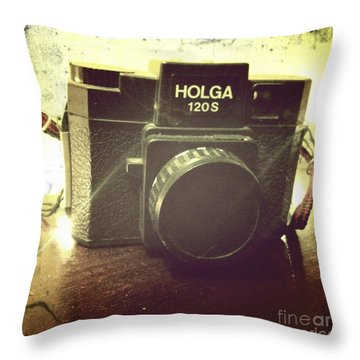 Holga Throw Pillow by Nina Prommer