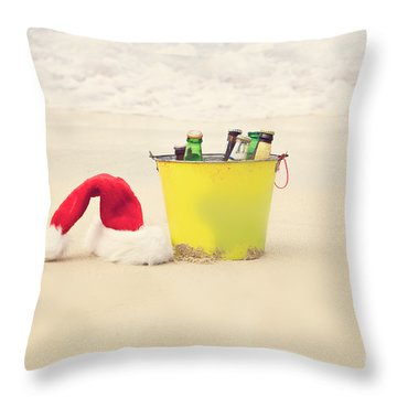 Holiday Cheer Throw Pillow by Kim Fearheiley