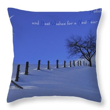 Holiday Greetings Throw Pillow by Sabine Jacobs