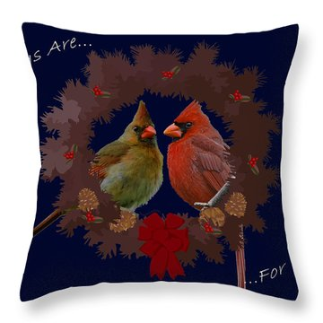 Holidays Are For Family Throw Pillow by DigiArt Diaries by Vicky B Fuller