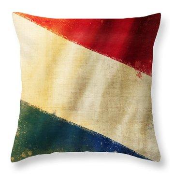 Holland Flag Throw Pillow by Setsiri Silapasuwanchai