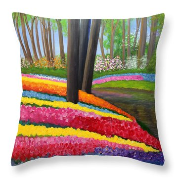 Holland Gardens Throw Pillow