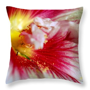 Hollyhock And The Ant Throw Pillow