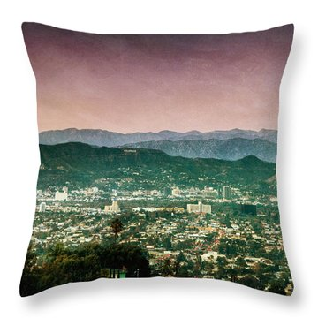 Hollywood At Sunset Throw Pillow