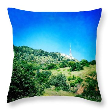 Throw Pillow featuring the photograph Hollywood by Nina Prommer