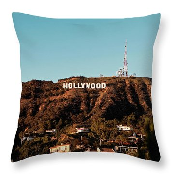 Hollywood Sign At Sunset Throw Pillow
