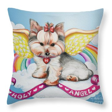 Holy Angel Throw Pillow