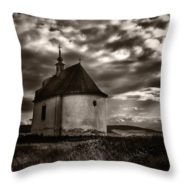 Holy Cross Chapel Throw Pillow by Tom Bell