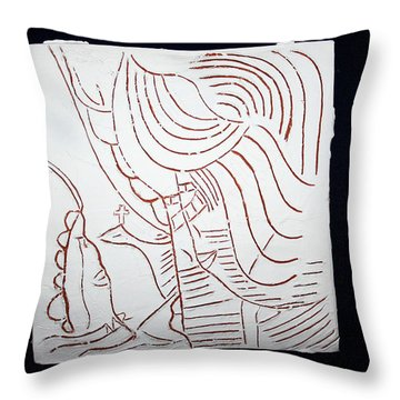 Holy Family Throw Pillow by Gloria Ssali
