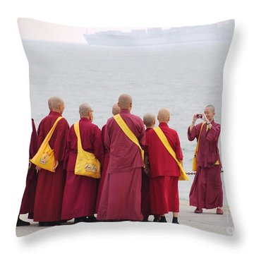 Throw Pillow featuring the photograph Holy Fun by Yali Shi