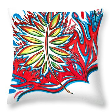 Holy Ghost Fire Throw Pillow by Amber Hadden