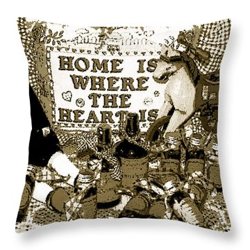 Throw Pillow featuring the photograph Home Americana Style by Pamela Hyde Wilson