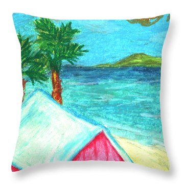 Home By Shore Throw Pillow by William Depaula